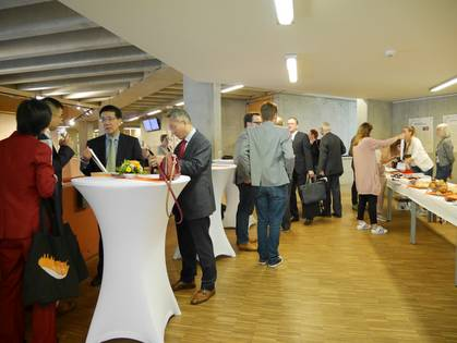 Impression of the welcome reception