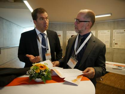 Prof. Dr. Dietrich Backer and Prof. Dr. Manfred Kiesel